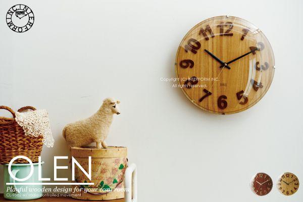 【 インターフォルム 】OLEN [オレン]■電波時計 | 壁掛け時計 :INTERFORM