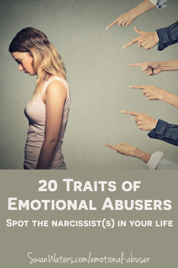 While survivors of abuse may be thousands of miles apart, the strategies used by the toxic person, narcissist or sociopath in their lives, are eerily similar. There seems very little difference in how emotional abuse is perpetrated, even when it happens in different settings, like spousal abuse, parental abuse or even workplace bullying. So we are pretty confident that this list of traits of toxic people and the accompanying examples will help you spot the emotional abuser(s) in your life.