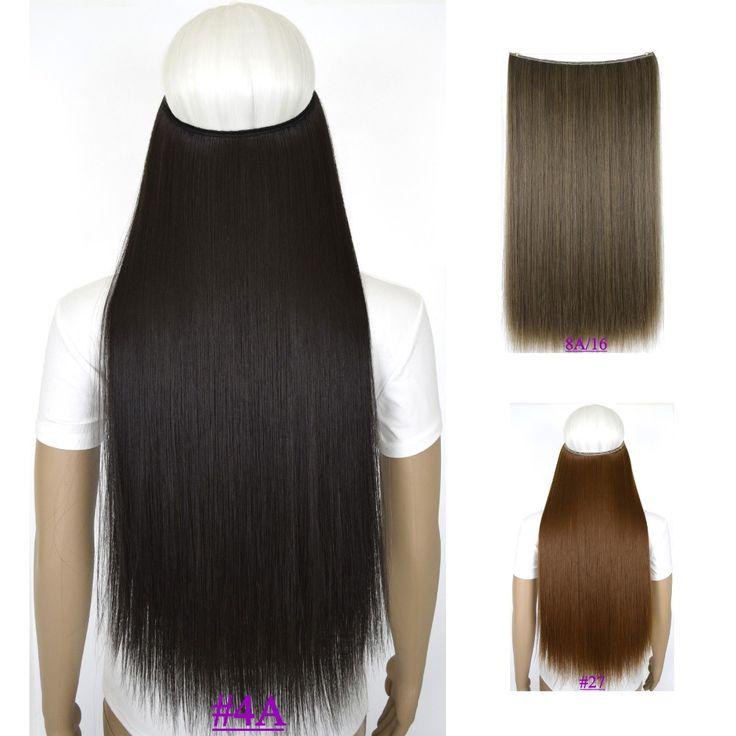 """24 """"(60 см) 100 г Прямые mircale провода halo выдвижения волос парики B5 волокна волос"""