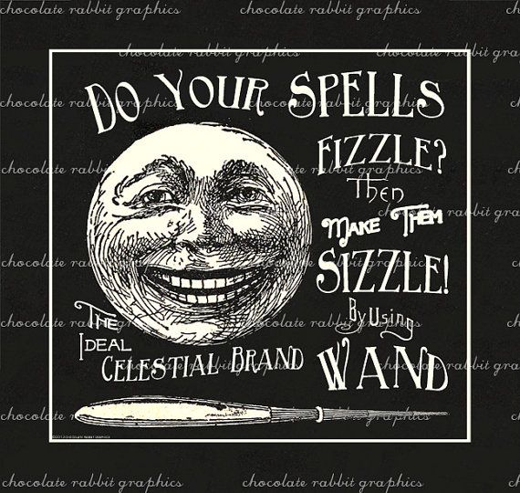 Halloween Vintage Witch Wand Label Apothecary Digital Download Clip Art Printable Collage Scrapbook Image Sheet INSTANT DOWNLOAD