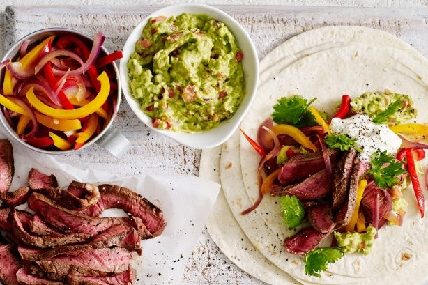 Put away the take out menu and try this tasty Mexican meal! Packed with spicy beef strips and home-made guacamole, these tortillas will leave your family wanting more!