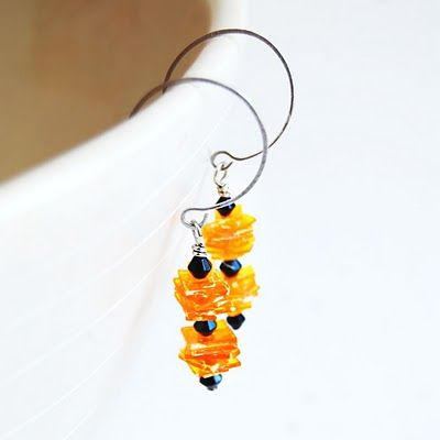 recycled pill bottle earrings