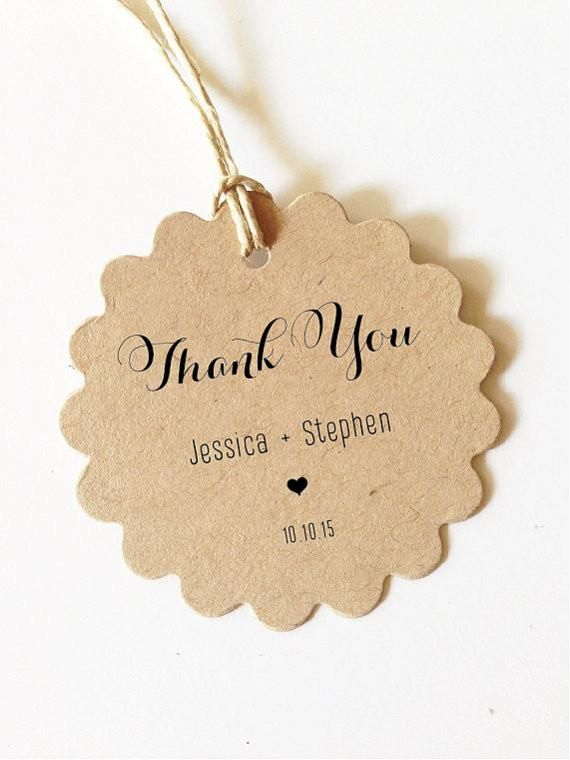 ... Thank You Tags - Personalized Tags - Party Tags - Wedding Favor Tags