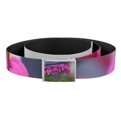Bleeding Heart Flower Floral Botanical Love Pink Belt - pink gifts style ideas cyo unique