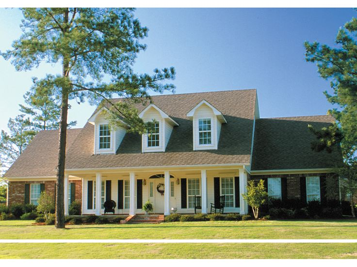 Southern Country Style Home With Sweeping Covered Front Porch - plan 055D-0118 - houseplansandmore.com