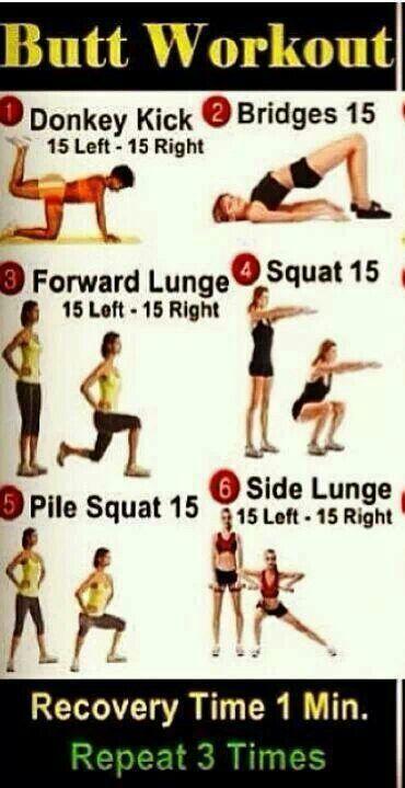 Buttocks workout Level 2 - The best butt workout