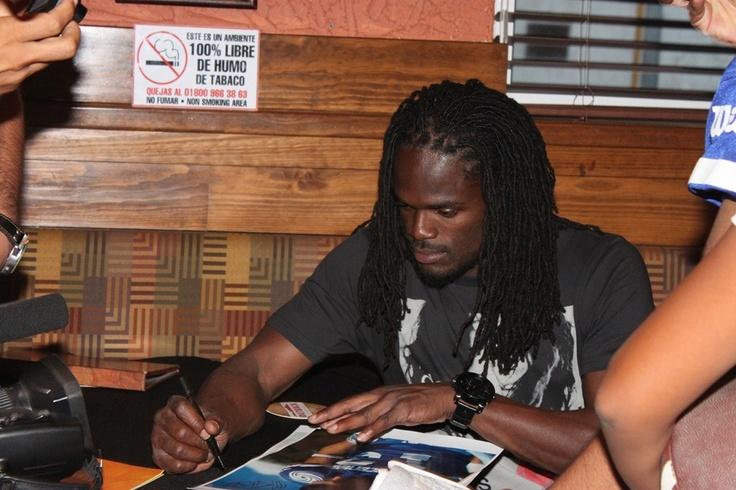 Firma de autógrafos NFL