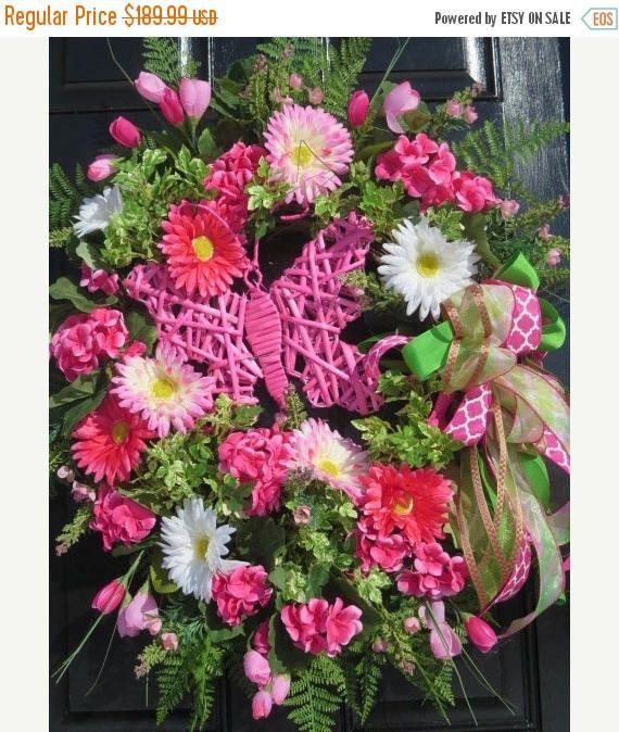CIJ JULY SALE Spring Summer Wreath Spring Summer Door Wreath