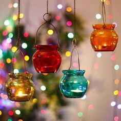 Colourful lanterns, inspiration decor. This diwali let's decorate your home with such a colourful lanterns.