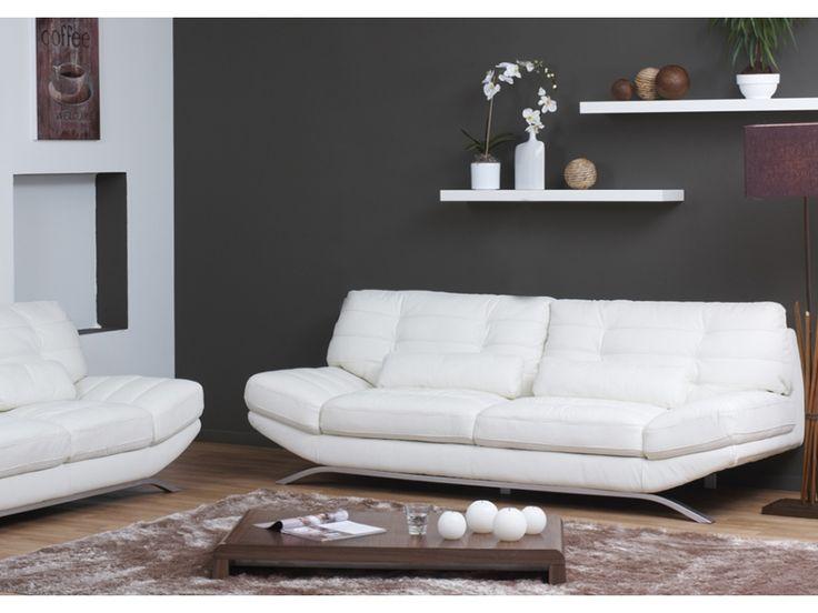 Best Canapés Et Fauteuils Design Images On Pinterest Armchairs - Canape blanc 3 places design