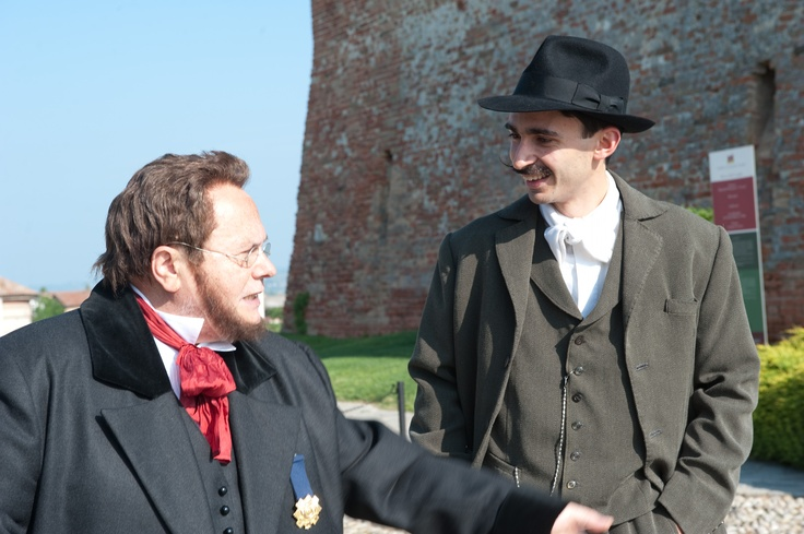The Count Cavour and his farmer in Grinzane estate