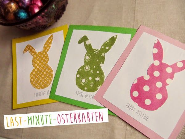 Kuddelmuddel: Mini-DIY: Last-Minute-Osterkarten