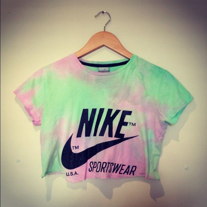 tie dye nike crop top yo diy clothes pinterest nike