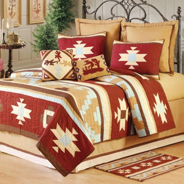 30 best images about bedding on pinterest western for Western style beds