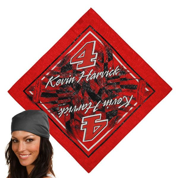 Kevin Harvick Checkered Flag Name and Number Bandana - Red