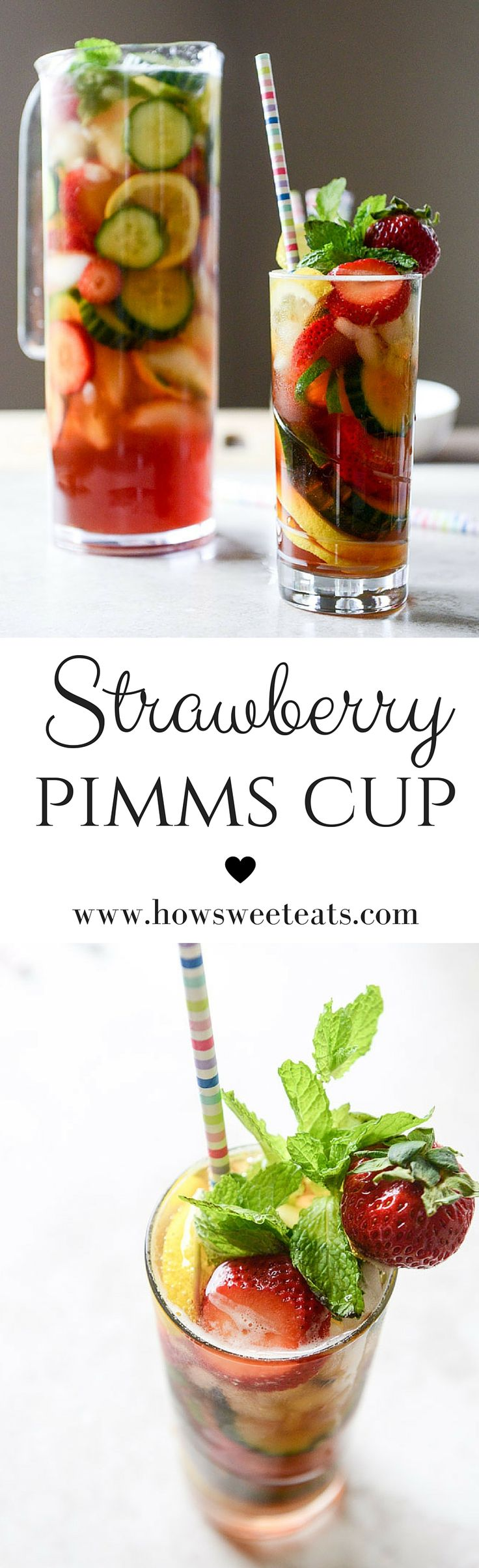 how to make a strawberry pimms cup I howsweeteats.com