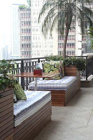Deitar e relaxar na varanda!