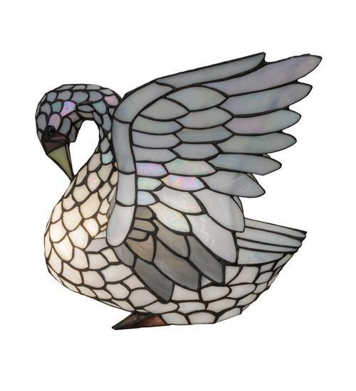 """14""""H Tiffany Swan Wildlife Novelty Lamp"""