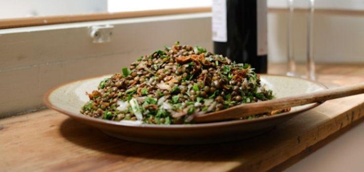 Φακές σαλάτα χωρίς λάδι