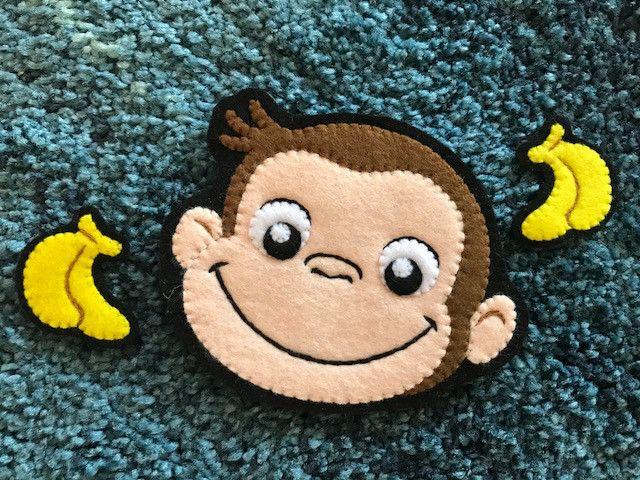 おさるのジョージ バナナワッペン 刺繍 ワッペン 作り方 おさるのジョージ フェルト マスコット キャラクター