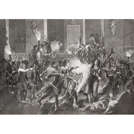 Gendarme Merda shooting at Robespierre during the night of the 9 Thermidor The Thermidorian Reaction was a revolt in the French Revolution when the National Convention voted to execute Maximilien Robe