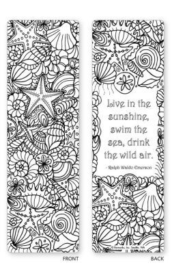 Under the Sea Coloring Bookmarks Set of 5 681410504007