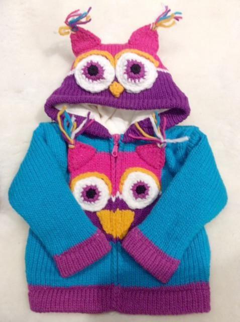 Children's Owl Sweater