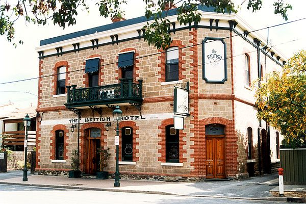 SA - North Adelaide - The British Hotel. The British opened its doors to the public back in 1838 and now holds one of the oldest hotel licences in South Australia. Things were a little different back then, but the old nostalgia and charm of the British remains today.