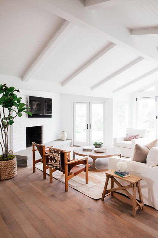 Love this ceiling with the white beams.. can I mock it up in my sewing room?