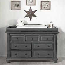 Oxford Baby London Lane 7 Drawer Dresser  Arctic Gray