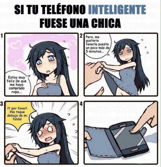 Si tu teléfono inteligente fuera chica #1