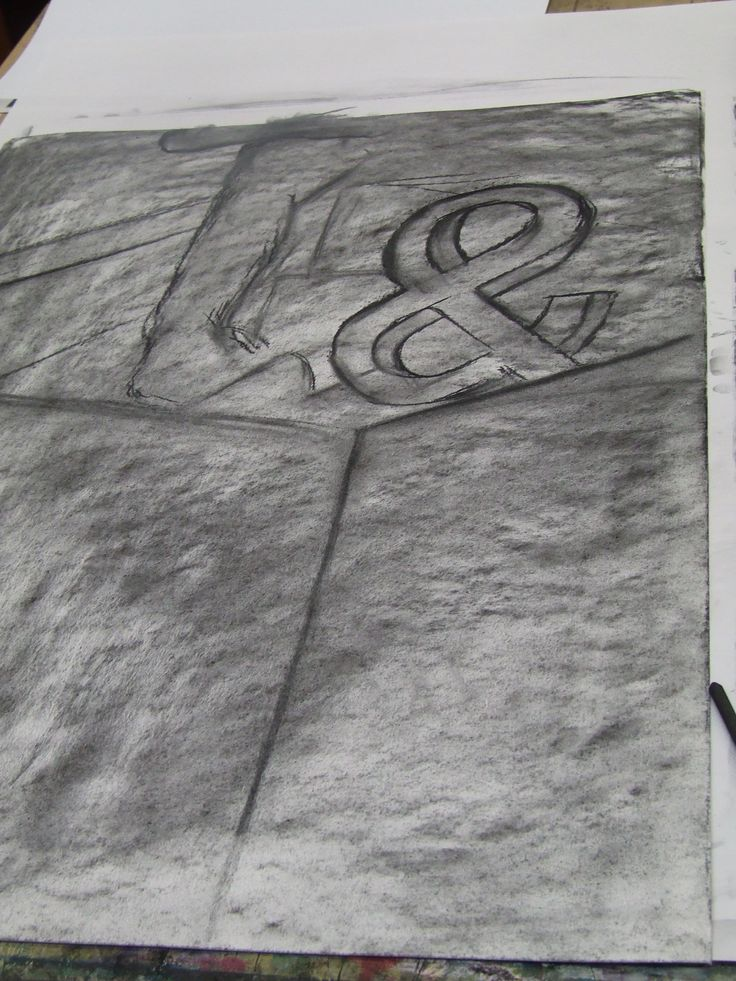 Background of charcoal drawing