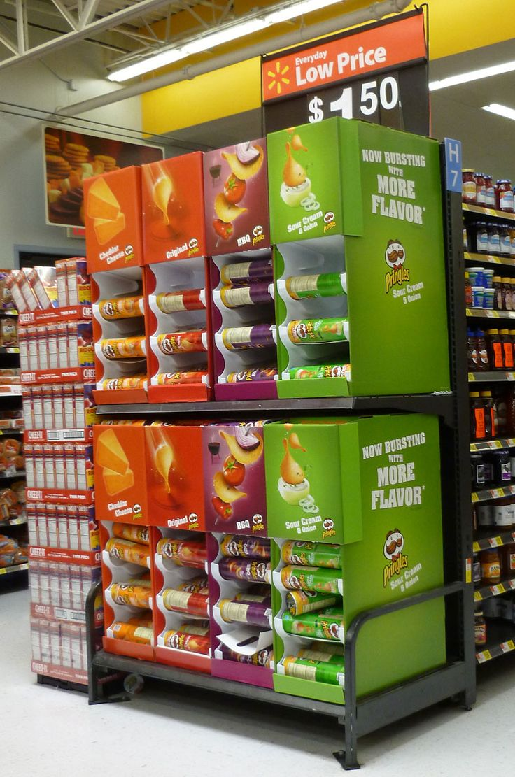 Reimagining potato chip displays captures attention in store and looks delicious.