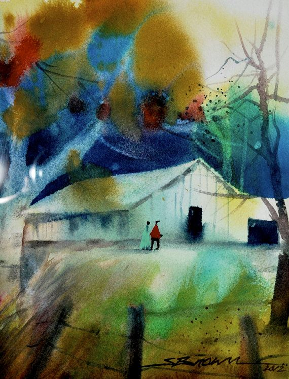 39 best Landscapes on ETSY images on Pinterest Watercolor print