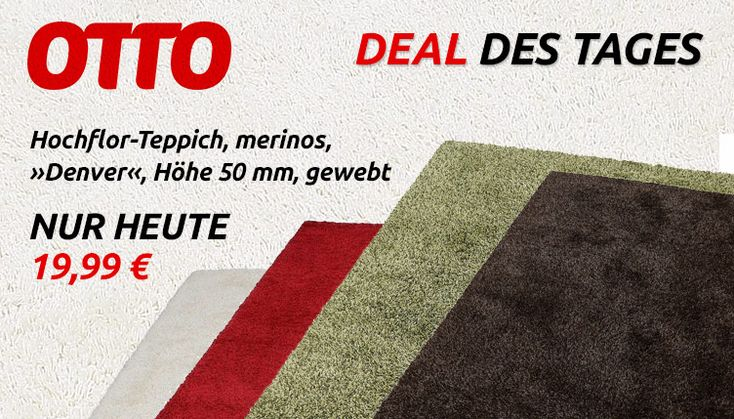 Deal des Tages – Otto Hochflor Teppich Denver