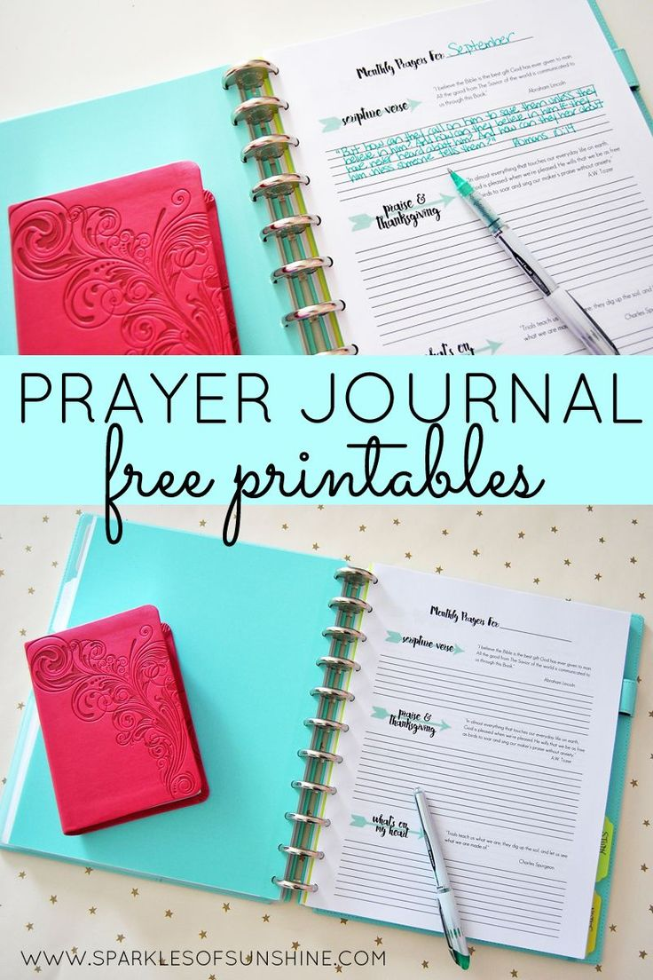 Organize your prayer life with these monthly prayer journal free printables from Sparkles of Sunshine.