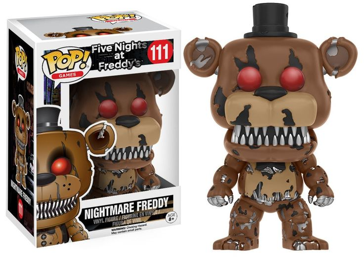 """- Funko Pop Games: Nightmare Freddy - Inspired by the game Five Nights at Freddy's - Figure Height: 4.5"""" - Box Dimensions: 6.5 x 4.7 x 3.6 inches - Color may vary - Pre-Order - Will Be Released on Oct"""