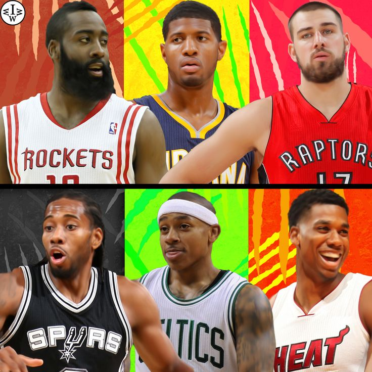 James Harden And Paul George: 77 Best Images About NBA 3 On 3 Art Vault On Pinterest