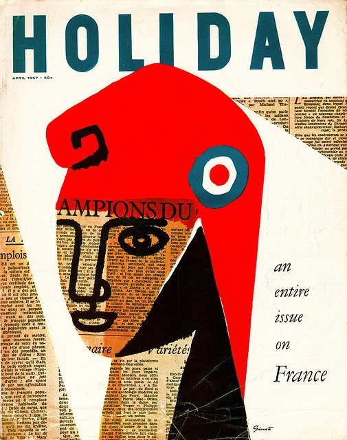 George Giusti Holiday magazine cover, April 1957. via sandi v