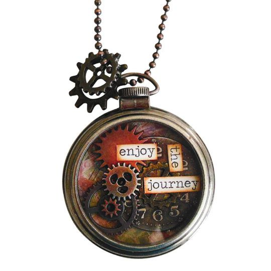 "Tim Holtz® ""Journey"" DIY Pocket Watch Necklace"