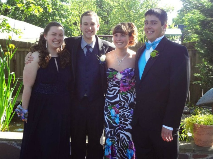 Vaughn Shirey shared his photo from Pottstown High School Prom. Pictured are seniors, Emily Kolbmann, Mike Bryan, Carly Mutter and Vaughn Shirey.
