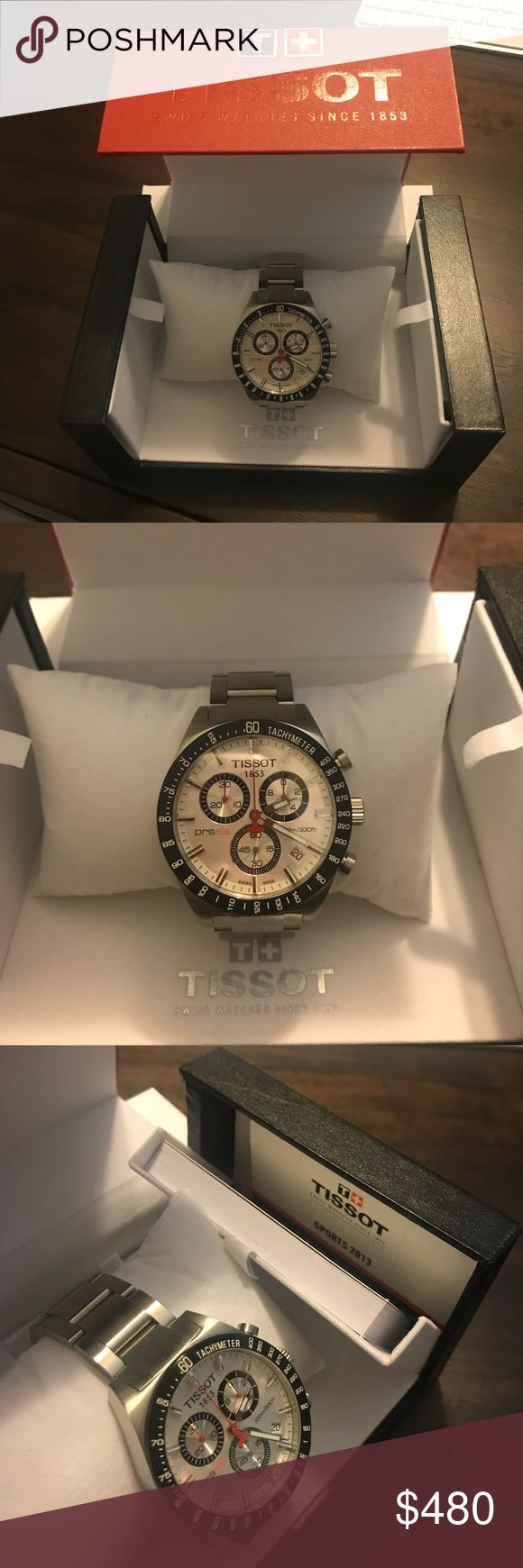 Men's Tissot PRS 516 Sport Watch Brand new, never worn. Still in box with all paperwork attached to it.  Tissot PRS 516 T044.417.21.031.00 White Stainless Steel Tissot Accessories Watches