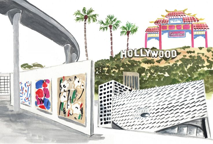 Lindsay Essay | Welcome to the Jungle: A View of the Los Angeles Art Scene | Illustration by Tessa Chong