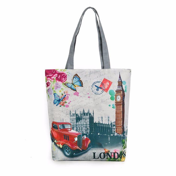 London Big Ben Canvas Tote Casual Beach Bags Women Shopping Bag Handbags luxury handbags women bags designer wholesale #754914