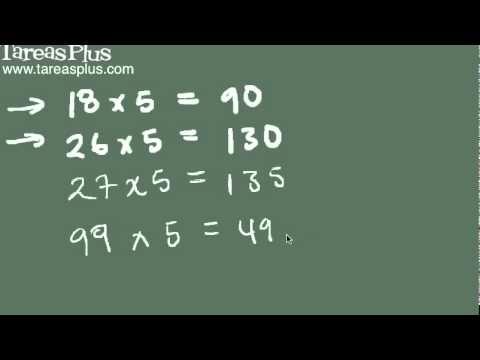 Como multiplicar por 5 sin calculadora y en segundos