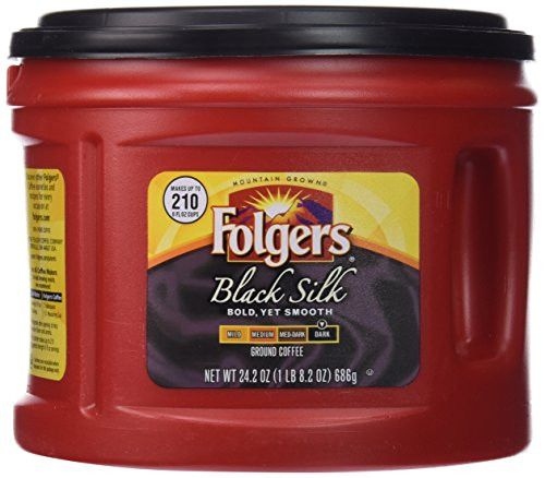 Folgers Black Silk, Dark Roast Ground Coffee, 24.2 Ounce