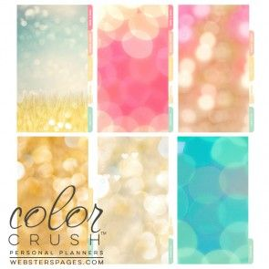 Webster's Pages Color Crush Personal Planner Divider Set Kit Today Is A Great Day