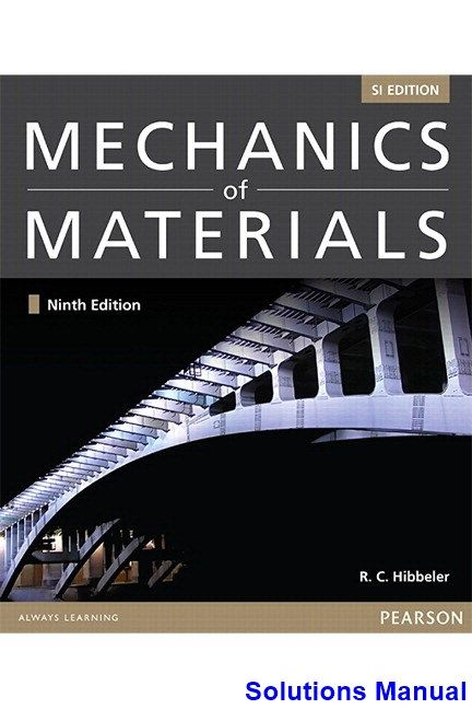 9 best solutions manual download images on pinterest mechanics of materials si 9th edition hibbeler solutions manual test bank solutions manual fandeluxe Gallery