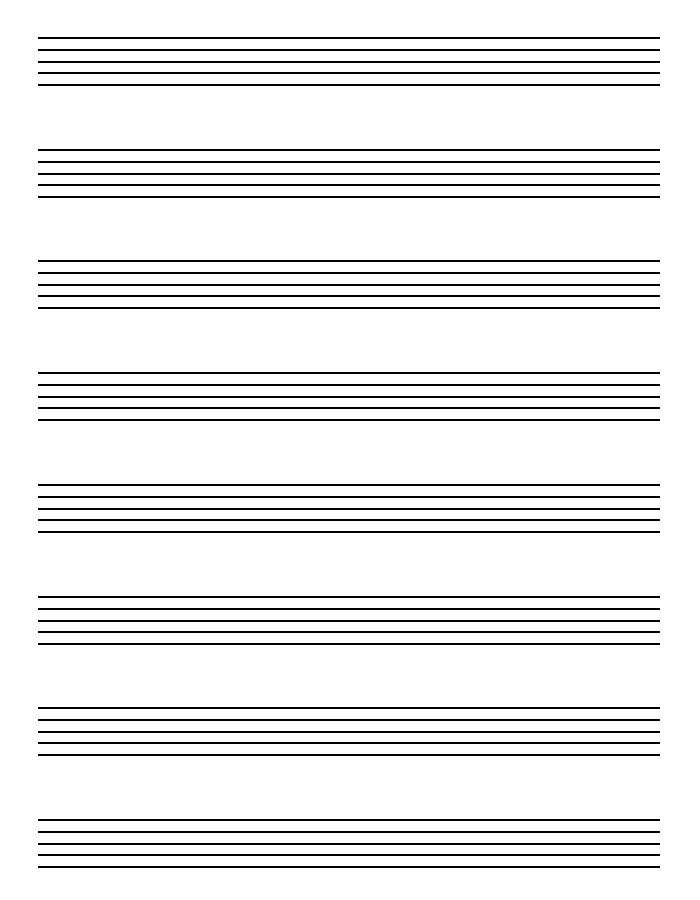 5 Best Images of Free Printable Staff Paper Blank Sheet Music
