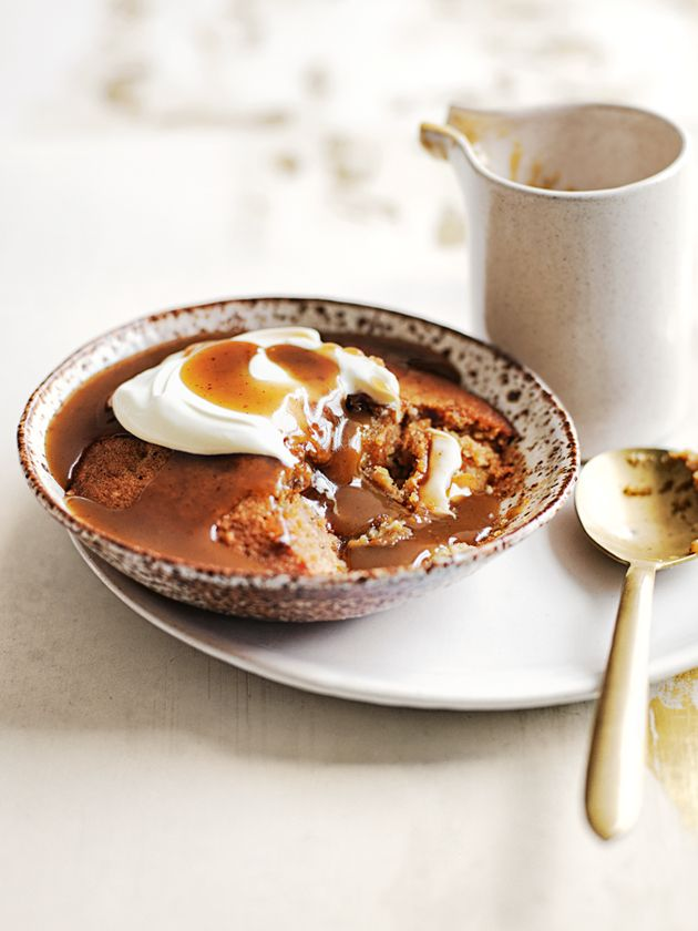 sticky banana puddings with burnt butterscotch from donna hay magazine issue #81 Winter 2015
